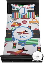 transportation toddler bedding. Beautiful Toddler Transportation Duvet Cover Set  Toddler Personalized On Bedding P