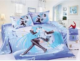100 cotton perform duvet cover sets girls bedding sets full twin sizet anime