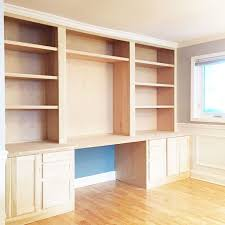 wall units built in desks and bookshelves bookshelf with desk built in ikea how to