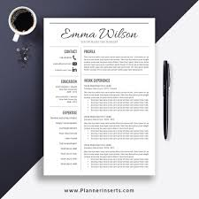 Professional Clean Resume Template 2019 Cover Letter Office Word Resume Simple Cv Template Creative Modern Resume Instant Download Emma