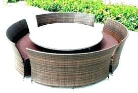 round outdoor furniture round patio ure large table outdoor chairs circle tablecloth with umbrella hole large