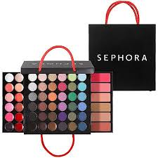 just got my own sephora um ping bag makeup palette