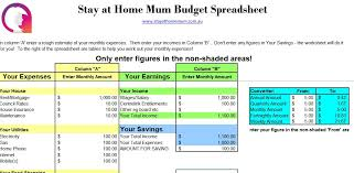 Budgeting Spreadsheet Free Free Downloadable Budget Spreadsheet Stay At Home Mum