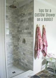 Bathroom Crown Molding Cool Inexpensive Tricks To Give Your Tiled Shower A Custom Look