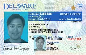 Markings Uv License Driver Delaware Holograms