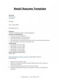 Cv Retail Executive Retail Cv Examples Retail Cv Template Sales Retail