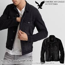 0106 american eagle mens denim jacket extreme flex aeo extreme flex denim jacket black 0106