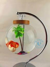 Details About Fish Tank Table Lamp Creative Craft Fly Goldfish Bowl .