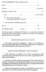 r r o reg teachers contracts form 3