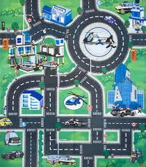 childs rug with roads kids childrens boys car road play mat roll up bithday xmas gift