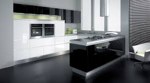 Retro Kitchen Floor L Shaped Retro Kitchen Ideas With Black Island And Dark Floor
