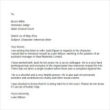Sample Of A Character Letter Character Letter To Judge Template As Letters Sample Character