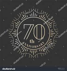 Graphic Design 70 70 Years Anniversary Vector Icon Logo Stock Vector Royalty