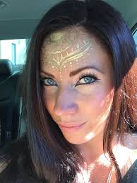 Henna Face Paint Designs Gold Henna Inspired Face Paint By Cynnamon Of Bay Area Party