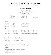 Beginners Resume Resumes For Beginners Free Beginner Acting Resume Sample Aocou Info