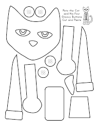 Free Printable Pete The Cat And His Four Groovy Buttons Cut And