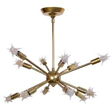 brass 1960s sputnik chandelier with original starlight bulbs for at 1stdibs