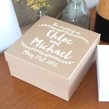 wedding memories keepsake cardboard kraft box