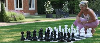 garden chess set. Garden Chess Pieces, Set, Outdoor Men Set 1