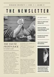 Newspaper App Template Off White Vintage Newspaper Style Newsletter Templates By Canva