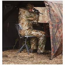 chair hunting blind. contoured, height-adjustable seat and supportive backrest chair hunting blind z