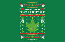 Funny Or Die: Smoke Weed Every Christmas - BustedTees | BustedTees