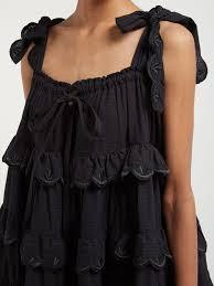 Iva Biigdres tiered cotton midi dress   Innika Choo   MATCHESFASHION JP