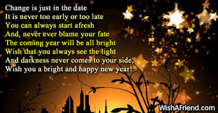 Christian New Years Poems Quotes Best of Change Is Just New Year Poem