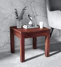 enkel solid wood end table in