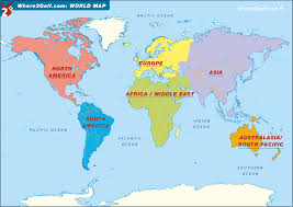 World Map Europe And Asia Golf World Golf Map Europe Us Canada Asia Africa Australasia