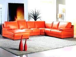 orange leather sectional sofa orange leather sectional sofa mini contemporary bonded