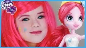 my little pony pinkie pie makeup tutorial equestria s doll cosplay kittiesmama dailymotion video