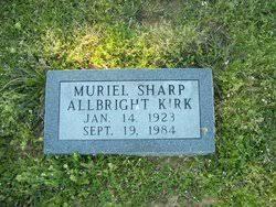 Muriel Sharp Kirk (1923-1984) - Find A Grave Memorial