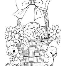 Small Picture Beautifully Decorated Easter Basket Coloring Page Batch Coloring