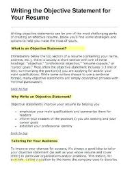 Resume Career Profile Examples