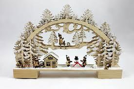Schwibbogen Kinder G480584 Holz Weihnachten Fensterdeko Led Winter Wald Ebay