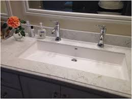 undermount trough sink. Trough Bathroom Sink With Two Faucets For Contemporary Undermount Designs