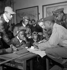 world war ii history hub several tuskegee airmen at ramitelli 1945 photo by toni frissell