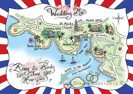 hand drawn maps for your wedding day the perfect personalised Personalised Drawing Wedding Invitations hand drawn maps for weddings (2) Peacock Wedding Invitations