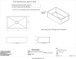 farm sink sizes. Brilliant Sink Spec Drawing For T33 In Farm Sink Sizes Texas Lightsmith