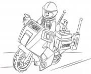 Lego Police Coloring Pages Free Printable