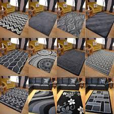 floor rugs new black grey silver small extra large big huge size floor carpet rug mat