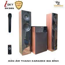 Dàn karaoke gia đình - Dàn âm thanh khủng kết nối Tivi , iphone, ipad,  smartphone Hát karaoke -