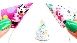 miniature dollhouse birthday party hats tutorial my little pony minnie mouse l dollhouse diy