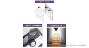 outdoor solar powered pir motion sensor led garden wall lamp light