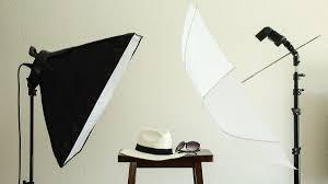 soft box and umbrella lighting