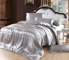 elegant bedding solid color silk smooth set silver in comforter sets prepare 10