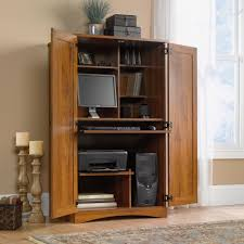 Hidden Printer Cabinet Harvest Mill Computer Armoire 404958 Sauder