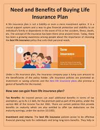 Compare and buy online term insurance plans, get free quotes and online support from easypolicy. Need And Benefits Of Buying Life Insurance Plan By Alankit Insurance Issuu
