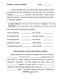Molecular Compounds Worksheet Fill Online Printable